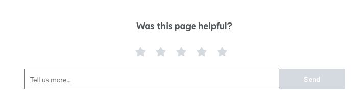 Was this page helpful? embedded survey example