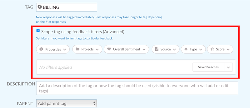 Tag Scoping feature in Wootric